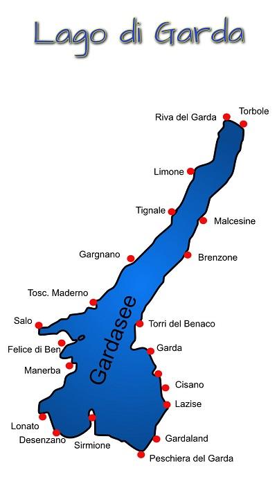 Karte Gardasee Übersicht
